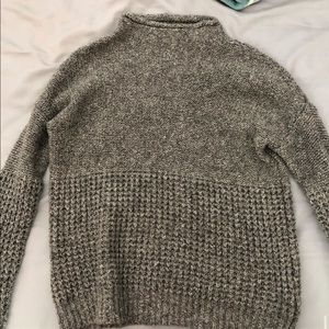 american eagle waffle knit sweater